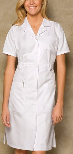 "$34.99 Multiple sizes available  Dickies Medical Uniform Button Front WHITE Nurse's Uniform Dress 38"" XS-3XL | eBay"