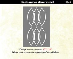 Wall Stencil Lattice Swirls Trellis Pattern Wall by OMGstencils