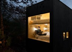 'getaway' from everything and escape to a secluded woodland tiny house