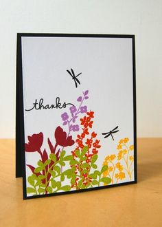 Paper Smooches floral silhouettes from Botanicals 1 and Botanicals 2, with a sentiment from Scripty Sayings.