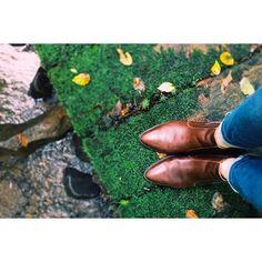 【tanepieece】さんのInstagramをピンしています。 《🍂🍁. . 雨だったけど良い感じ*. ゚ . 新しい靴お気に入り*. ゚ . #iPhone  #写真部 #秋 #雨 #森 #緑 #苔 #自然 #靴 #ブーツ #camera #photooftheday #shoes #autumn #japan #nature》