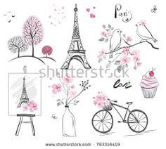 Image Result For Eiffel Tower Bicycle Place Cards