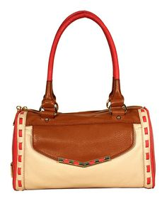 Look what I found on #zulily! Chamois, Coral & Safari Betsey Satchel #zulilyfinds
