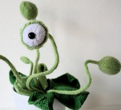 Because every knitter needs a monster plant in their house
