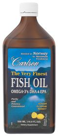 Carlson Laboratories                The Very Finest Fish Oil Lemon 1600 MG, 16.9 Fluid Ounces , Liquid