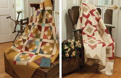 Crossing Paths and Garden Ambrosia quilts