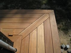 Create a Landscape with Wooden Tiles and Gravel – Proud Home Decor Cabin Decks, Deck Framing, Deck Construction, Timber Deck, Patio Makeover, Deck With Pergola, Garden In The Woods, Decks And Porches, Outdoor Living