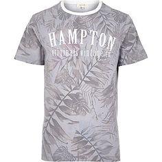 Ecru floral Hampton print t-shirt - print t-shirts - t-shirts / vests - men