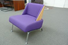 Purple Low chair Showood Beech Back Chrome Feet   RRP £808.00 + VAT Our Price: £200+ VAT