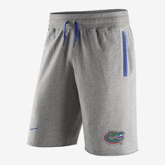 REPRESENT YOUR TEAM The Nike AW77 Stadium Team First (Florida) Men's Shorts provide comfort and a lived-in look with soft French terry cotton and unfinished hems. A proud school logo displays unmistakable loyalty wherever you go. Benefits Superior French looped cotton that's soft, cozy and durable Rib waist with drawcord for a snug, adjustable fit Product Details Side pockets Fabric: 100% cotton Machine wash Imported