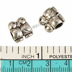 Zinc Alloy Animal Large Hole Beads,Two Birds,Plated,Cadmium And Lead Free,Various Color For Choice,Approx 12*11*7.5mm,Hole:Approx 4.5mm,Sold By Bags,No 010152