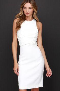 Cameo Trails Dress - Ivory Dress - Midi Dress - Wrap Dress - $176.00