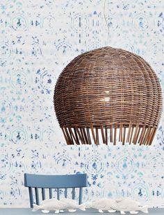 Rattan pendant lamp CROCO 96 by Gervasoni #design Paola Navone @gervasoni1882