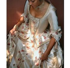 18th century wedding dresses  Contemporary portrayals of historical costume. Need to find a place to wear one of these.  Have been dying to make one.