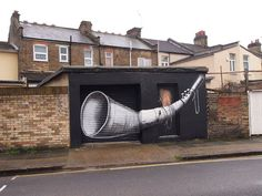 """Vines and A Trumpet"" by Phlegm – view more (strange) images @ http://www.juxtapoz.com/Street-Art/qvines-and-a-trumpetq-by-phlegm# – #streetart #london #phlegm"