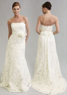 full length lace wedding dress