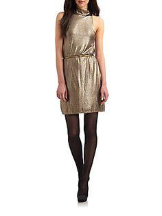 Alice And Olivia Estelle Mock Neck Dress In Gold Alice Olivia, Mock Neck, Sequins, High Neck Dress, Turtle Neck, Summer Dresses, Turtleneck Dress, Clothes, Collection