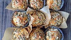 Grove muffins til turmat. Norwegian Food, Good Food, Yummy Food, Easy Snacks, Picky Eaters, Pulled Pork, Scones, Food To Make, Breakfast Recipes