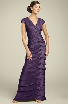 Tip for finding modest bridesmaid dresses: do a search for Mother of the Bride Dresses. There are some out there that could work very well as bridesmaid dresses. Modest Bridesmaid Dresses, Mob Dresses, Bride Dresses, Bridesmaids, Filipino Fashion, Party Frocks, Dress Picture, Groom Dress, Tiered Dress