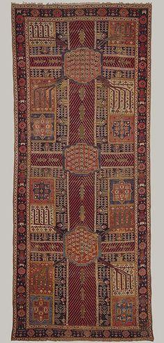 Garden carpet, ca. 1800  Iran  Cotton warp and weft, wool pile