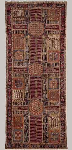Garden carpet, ca. 1800  Iran  Cotton warp and weft, wool pile
