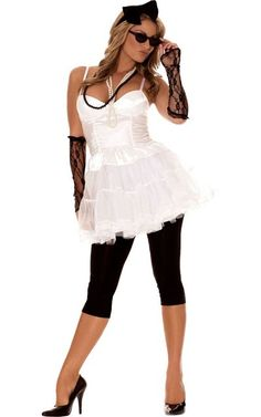 """Adult Rock Star 80s Costume - Party City"""" ... This is just a girl wearing sleeves why is this popular"""