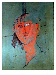 The Red Head, circa 1915 Impressão giclée