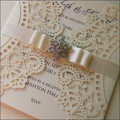 Tarjeta de encajes boda