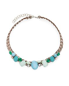 Woven Gem Necklace - JewelMint