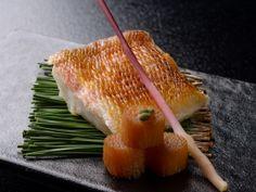 懐石料理一例:甘鯛の焼き物