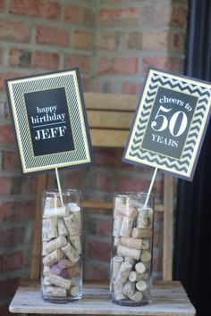 Trendy ideas for birthday party dcoration center pieces Happy Birthday Jeff, Moms 50th Birthday, Adult Birthday Party, 40th Birthday Parties, 50th Birthday Party Ideas For Men, 50th Party, Birthday Crafts, 40th Birthday Centerpieces, Birthday Party Decorations For Adults