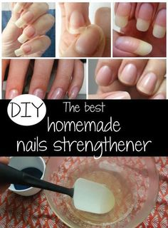 DIY The best homemade nails strengthener nails Beauty nails nail strengthener - Nails Homemade Beauty, Diy Beauty, Beauty Hacks, Beauty Care, Beauty Ideas, Beauty Skin, Gel Nail Varnish, Nail Polish, Acrylic Nails