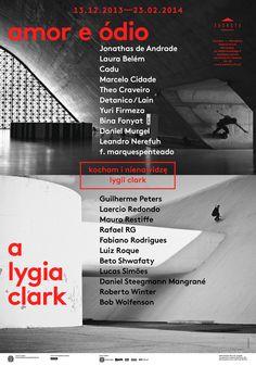 amor e ódio a lygia clark – exhibition poster