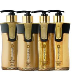 Keratin Cure 0% Formaldehyde Bio-Brazilian Hair Treatment Gold and Honey 10.14 oz 4 piece Kit 300 ML Safe for all *** Be sure to check out this awesome product.