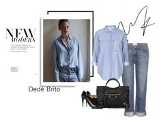 """Sem título #1338"" by dedebrito ❤ liked on Polyvore featuring Paige Denim, Topshop, Balenciaga, Roland Mouret, women's clothing, women's fashion, women, female, woman and misses"