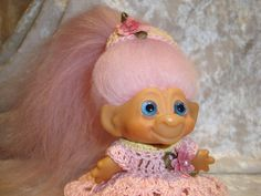 vintage 1964 troll dolls loved and collected them and made their clothes