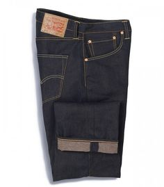 Levis x EKOCYCLE Jeans; Made from 29% post-consumer waste materials, using an average of 8 various sized recycled PET plastic bottles