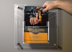 Mock-Up A4 Display Brochure Box by Braxas Mora, via Behance