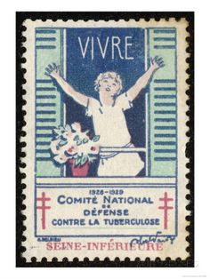French Postage Stamp Promoting Fresh Air and Sunshine to Fight Tuberculosis Giclee Print at AllPosters.com