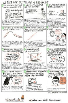 12 Tips for Quitting a Bad Habit - #Infographic and short article by Yumi Sakugawa