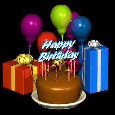 Happy Birthday Balloons and Cake Happy Birthday Prayer, Happy Birthday Nephew, Happy Birthday Wishes Images, Happy Belated Birthday, Happy Birthday Pictures, Happy Birthday Cards, Birthday Greetings, 35th Birthday, Happy Birthday Ballons