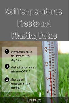 1626 - Soil Temperatures, Frosts and Planting Dates - PlantTalk Colorado Colorado State University, Planting, Need To Know, Gardening Tips, Dates, Frost, Landscape, Sweet, Candy