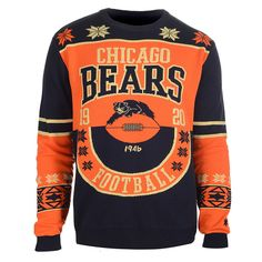 Chicago Bears Cotton Retro Sweater from UglyTeams