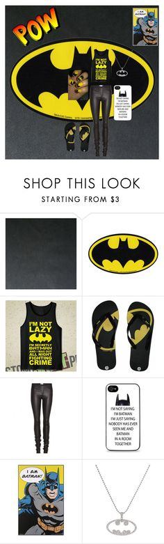 """BATMAN"" by super16 ❤ liked on Polyvore featuring Astek, Hot Topic, Helmut Lang and WALL"