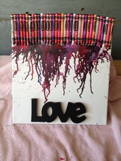 The world of Cassie • Melted Crayon Art how-to