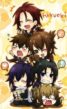 Hakuouki Chibi - hakuouki Photo // Honestly, Hakuoki is one of the better reverse harem animes and I really wish more people knew about it ❤ Anime Chibi, Manga Anime, Anime Toon, All Anime, Manga Drawing, Manga Art, Saiunkoku Monogatari, Ao Haru, Gekkan Shoujo