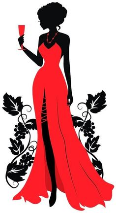 Único y Creativo Wearing A Beautiful Red Dress, Silhouette Figures, Wineglass, Beauty PNG and Vec. Wearing A Beautiful Red Dress, Silhouett. Woman Silhouette, Silhouette Art, Dress Silhouette, Beautiful Red Dresses, Fashion Art, Fashion Design, Emo Fashion, Fashion Women, Black Women Art