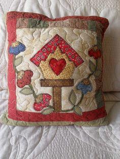 heart, birdhouse, flowers, applique