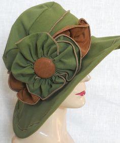 9801aa73450 Organic Fabric Sun Hat - Edwardian Style by Anna Shoub Edwardian Style