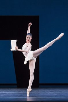 Olivia Cowley as Calliope in George Balanchine's Apollo, The Royal Ballet.